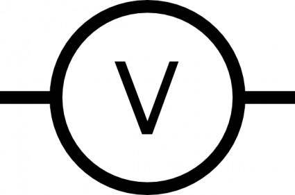 Volt Meter Symbol clip art