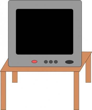 free vector Television On A Table clip art