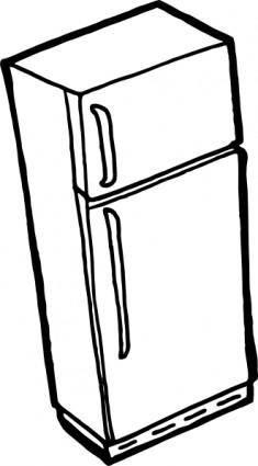 free vector Fridge Outline clip art