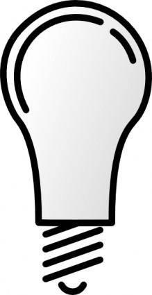 Lightbulb-notlit clip art