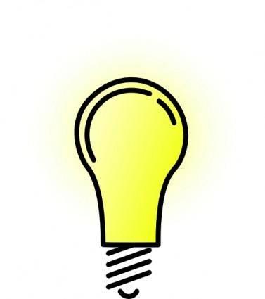 Lightbulb-brightlit clip art