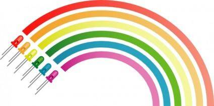 Rainbow From Light Emitting Diodes clip art