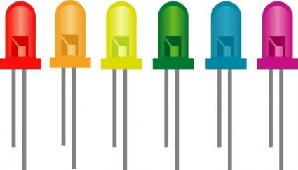 free vector Rainbow Of Light Emitting Diodes clip art