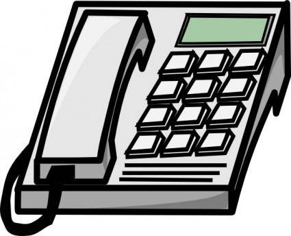 free vector Office Phone clip art