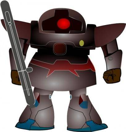 Fighter Robot clip art