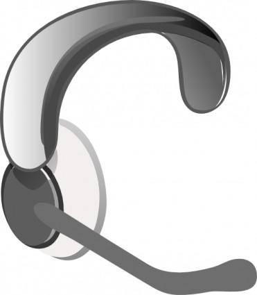 Casco Con Microfono clip art