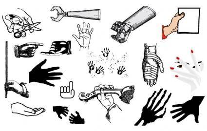 free vector Hand Vector Pack