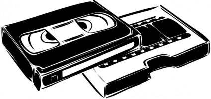 free vector Vhs Cassette Video clip art