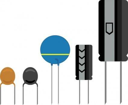 Capacitors clip art
