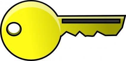 free vector Golden Key clip art