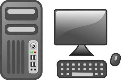 Computer Desktop clip art