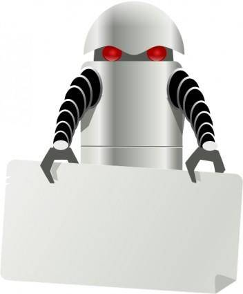 Robot Carrying Things clip art