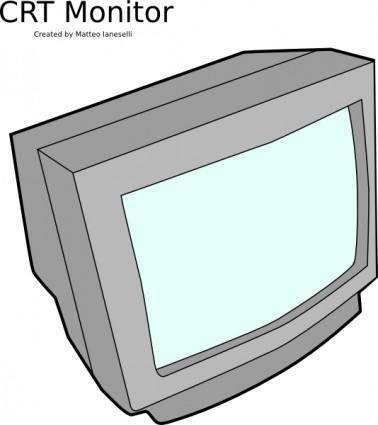 Crt Monitor clip art