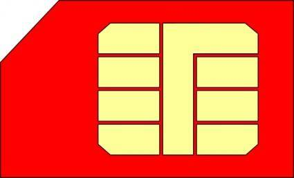 Sim Card Gsm clip art