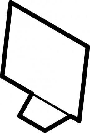 Computer Screen Outline clip art