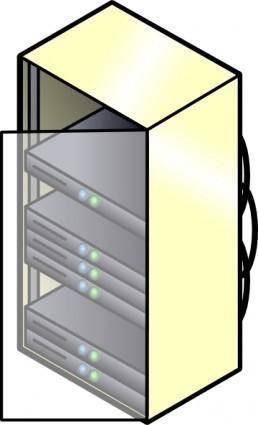 Rack Mounted Blade Servers clip art