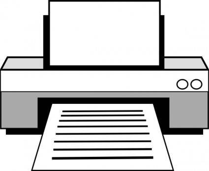 Computer Printer clip art