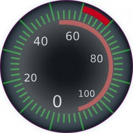 free vector Digital Speedometer clip art