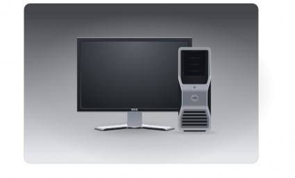 Computer Workstation clip art