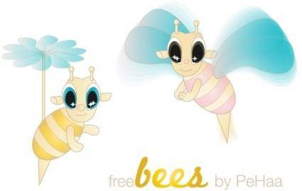 free vector Free Bees ? Vector Characters