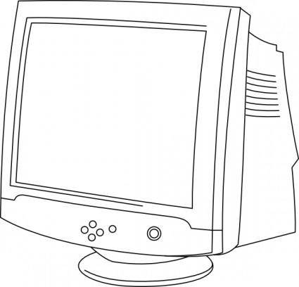 Outline Computer Monitor clip art