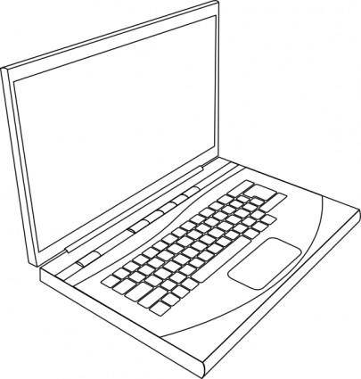 free vector Aurium Laptop In Line Art clip art