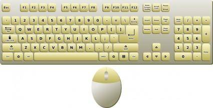 Computer Keyboard And Mouse clip art