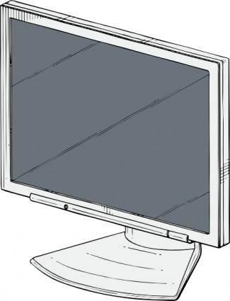 Flat Panel clip art