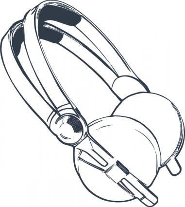 free vector Computer Headphones clip art