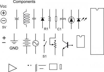 free vector Electronic Components clip art