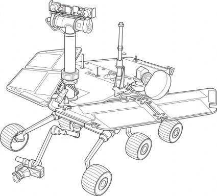 free vector Mars Exploration Rover clip art