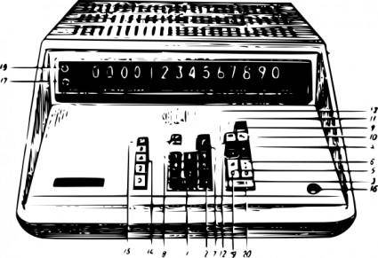 Calculator Elektronika 68 clip art