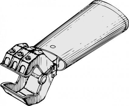 Mechanical Hand clip art