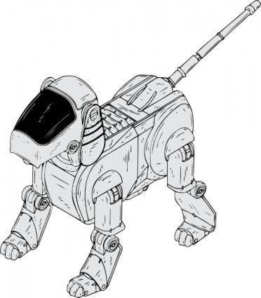Robot Dog clip art