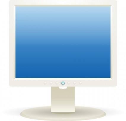 free vector Computer Lcd Monitor clip art