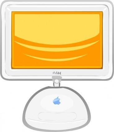 Macintosh Flat Panel clip art