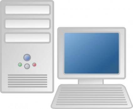 Workstation Desktop Lcd Flat Panel clip art