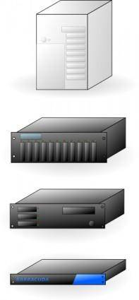 Rack Mount Thick Tower Servers X86 clip art