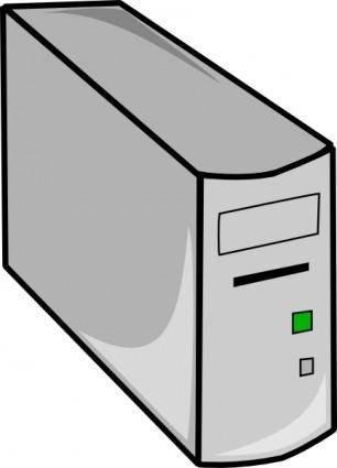 Tower Desktop Pc clip art