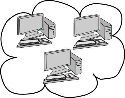 Network Cloud Computing clip art