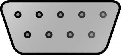 free vector Pc Connectors Pins Serial Interface clip art