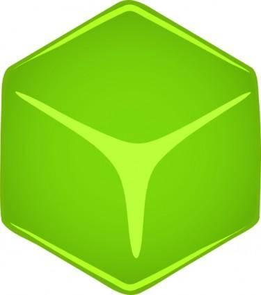 Green 3d Cube clip art
