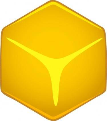 Yellow 3d Cube clip art