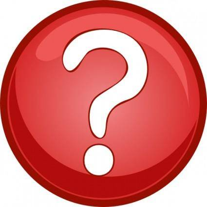 Red Question Mark Circle clip art