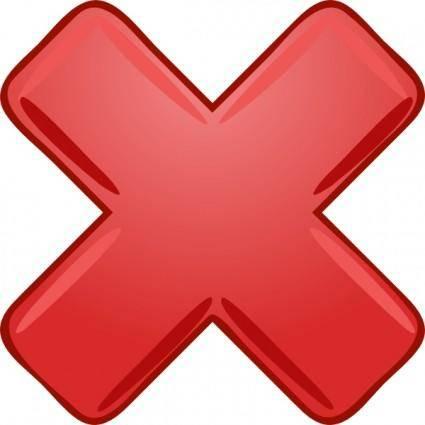 free vector Red X Cross Wrong Not clip art