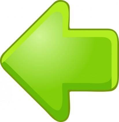 Left Arrow Green clip art