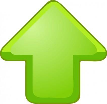 Up Arrow Green clip art