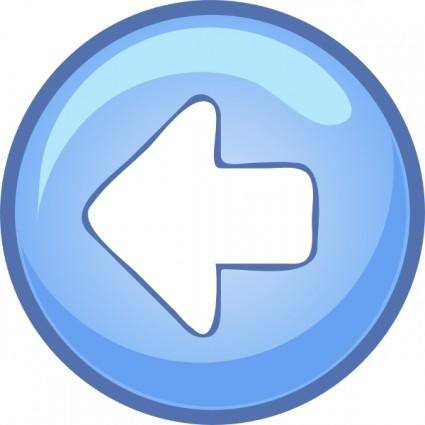 free vector Left Blue Arrow clip art