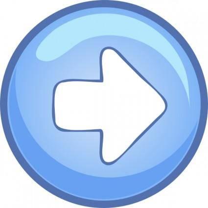 Right Blue Arrow clip art