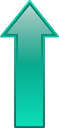 Arrow-up-seagreen clip art